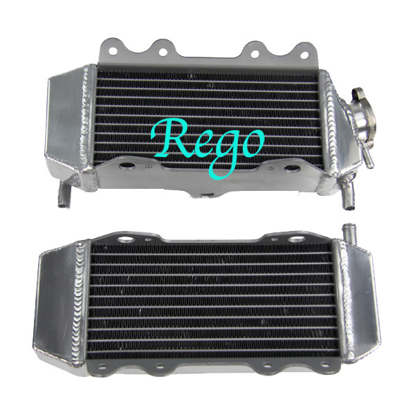 4 Rows Aluminum Motorcycle Race Radiators High Performance Air Tightness Tested