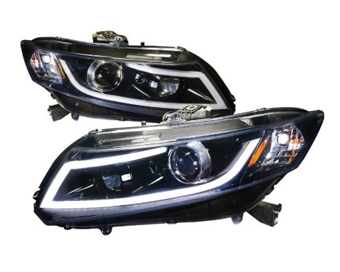 12V Honda Civic Smoke LED Car Headlights With 1 Year Warranty